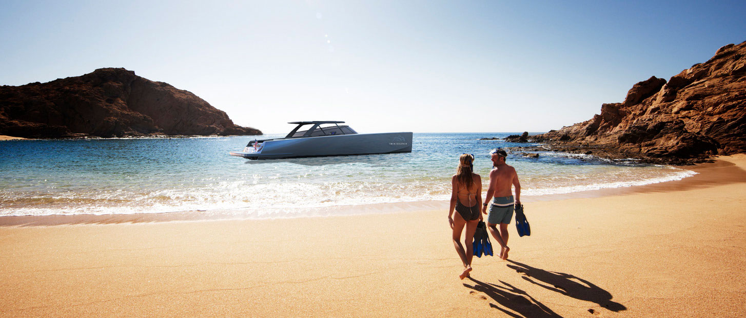 THE TWIN DOLPHIN VANDUTCH 56T BRINGS A NEW LEVEL OF LUXURY AND ADVENTURE TO LOS CABOS, MEXICO.